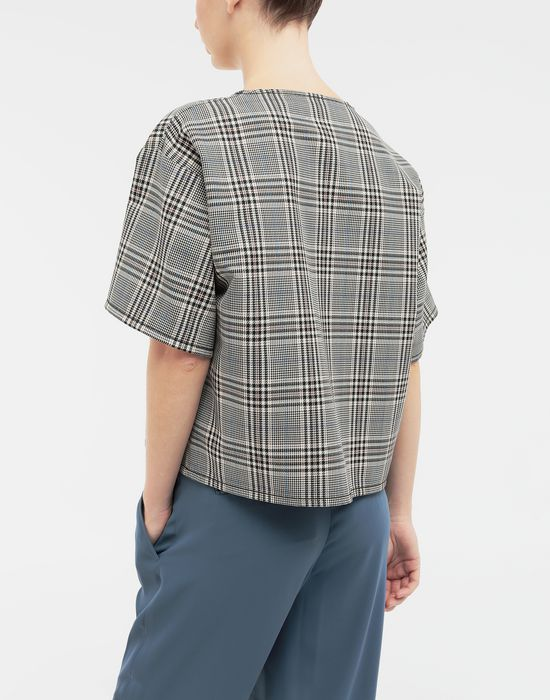 MM6 MAISON MARGIELA Checked wool-blend top Top [*** pickupInStoreShipping_info ***] e