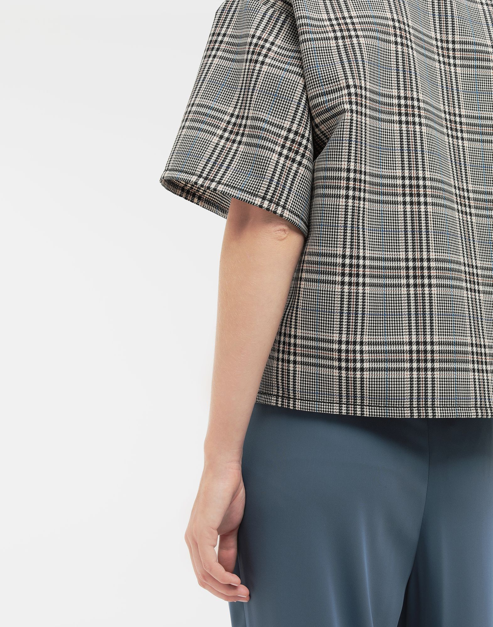 MM6 MAISON MARGIELA Checked wool-blend top Top Woman a