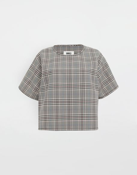 MM6 MAISON MARGIELA Checked wool-blend top Top Woman f
