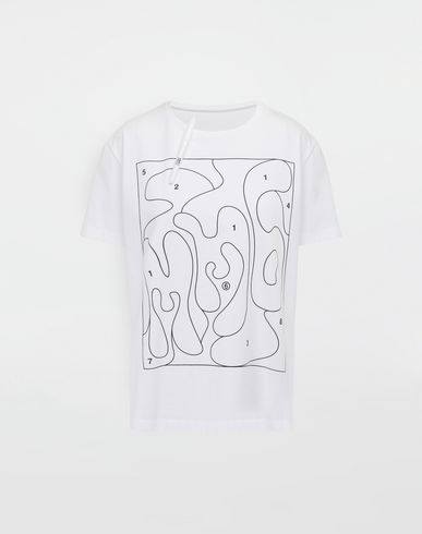 MM6 MAISON MARGIELA Colouring book print T-shirt Short sleeve t-shirt [*** pickupInStoreShipping_info ***] f