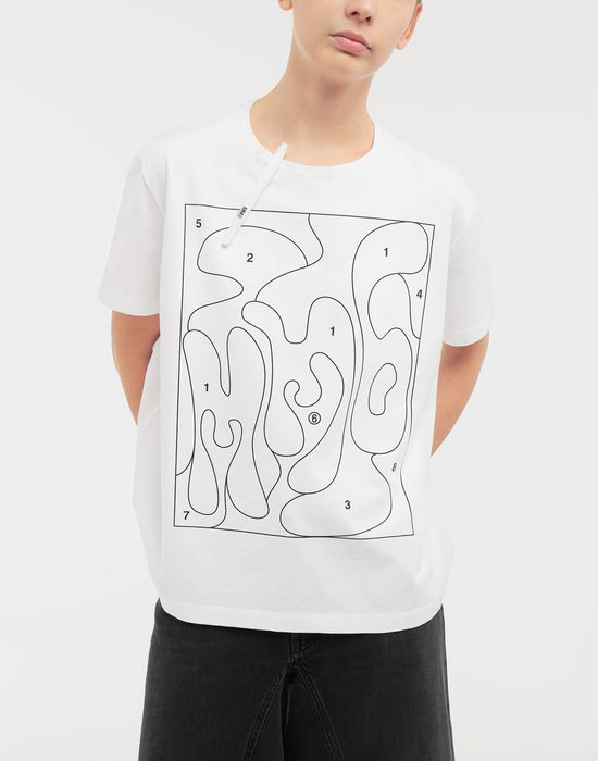 MM6 MAISON MARGIELA Colouring book print T-shirt Short sleeve t-shirt [*** pickupInStoreShipping_info ***] r