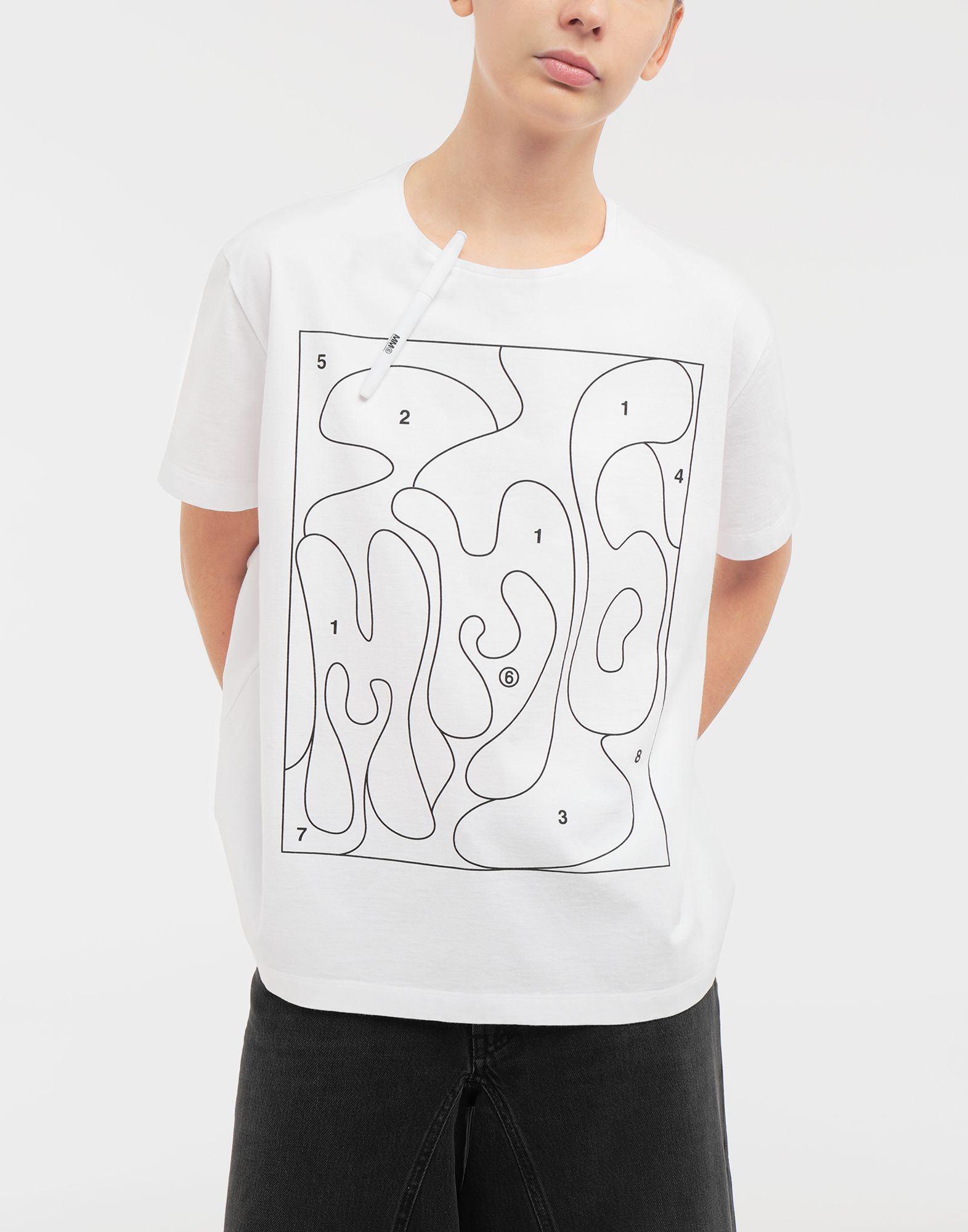 MM6 MAISON MARGIELA Colouring book print T-shirt Short sleeve t-shirt Woman r