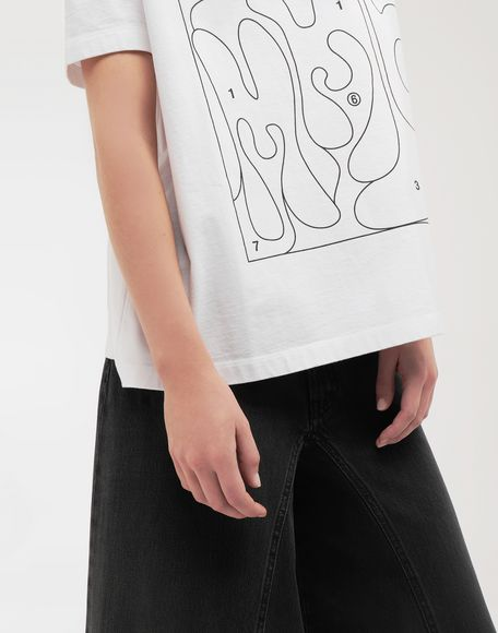 MM6 MAISON MARGIELA Colouring book print T-shirt Short sleeve t-shirt Woman a