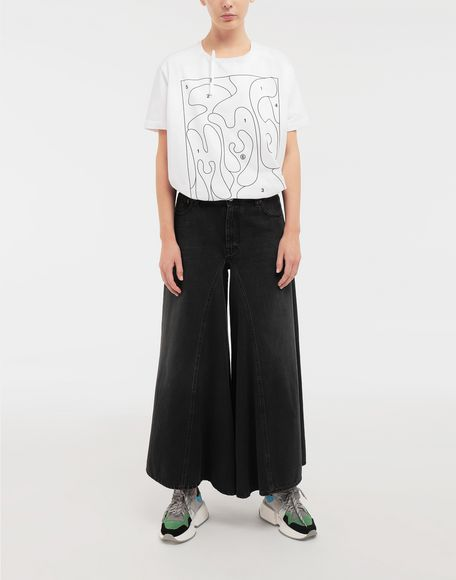 MM6 MAISON MARGIELA Colouring book print T-shirt Short sleeve t-shirt Woman d