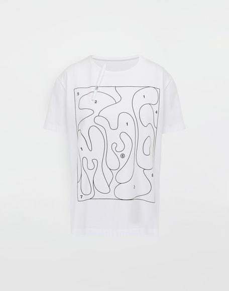 MM6 MAISON MARGIELA Colouring book print T-shirt Short sleeve t-shirt Woman f