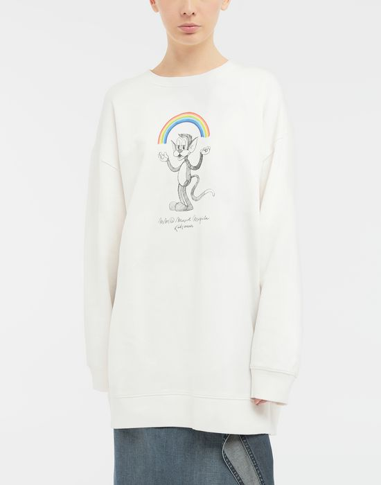 MM6 MAISON MARGIELA Rainbowmaker print sweatshirt Sweatshirt [*** pickupInStoreShipping_info ***] r