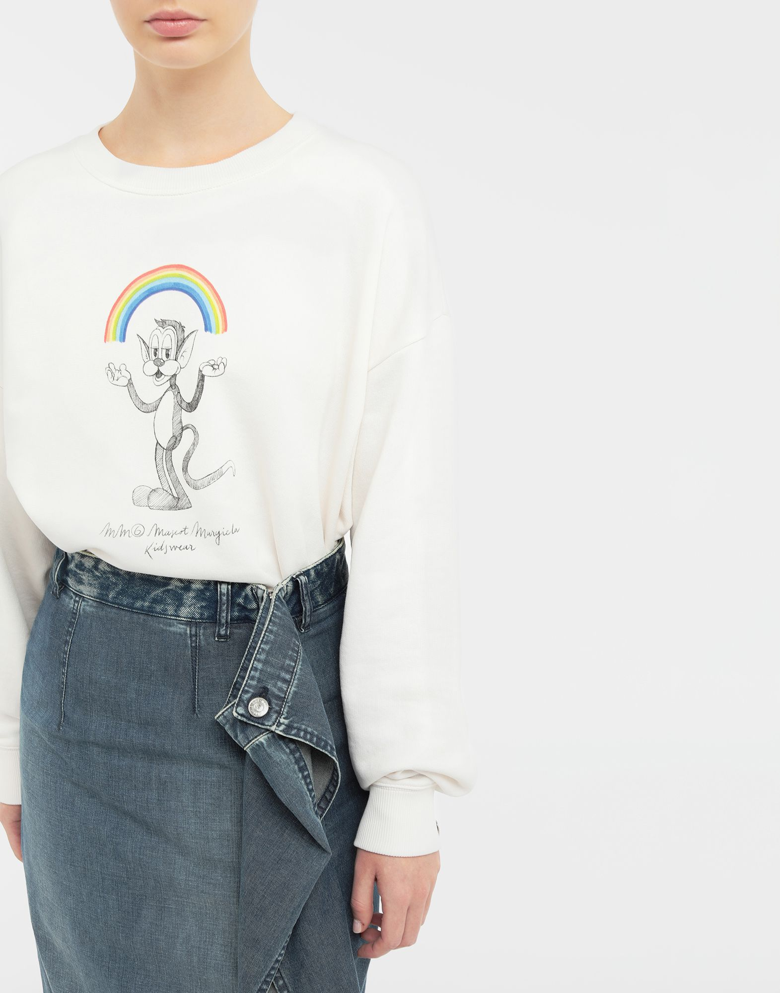 MM6 MAISON MARGIELA Sweat-shirt avec imprimé Rainbowmaker Sweatshirt Femme b