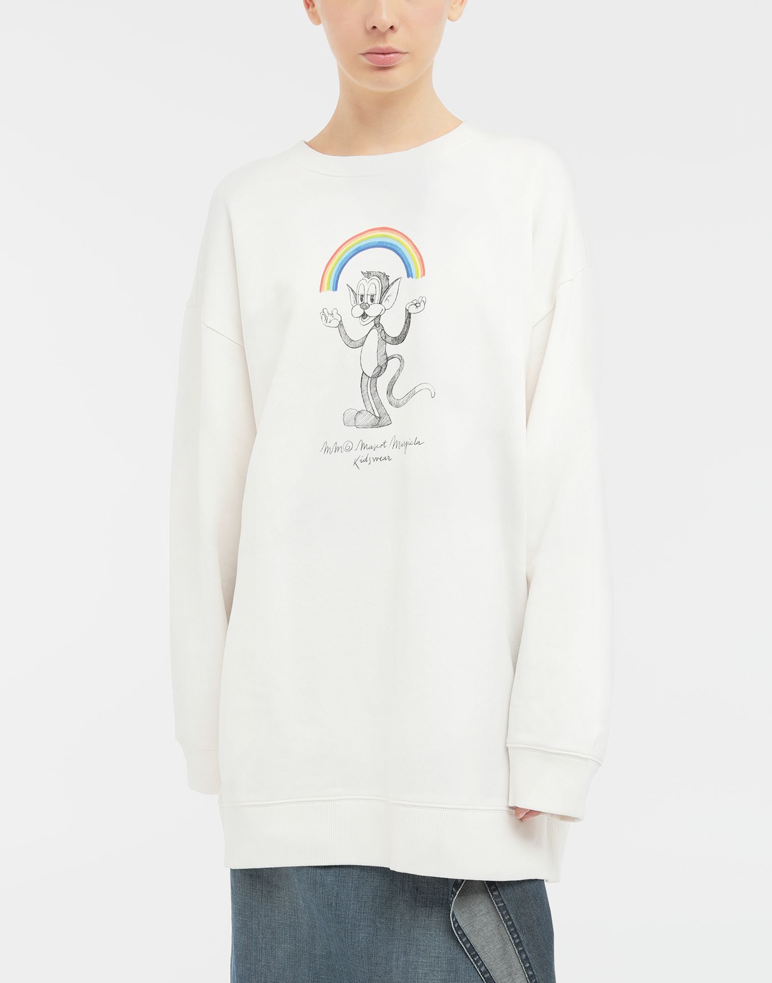 MM6 MAISON MARGIELA Sweat-shirt avec imprimé Rainbowmaker Sweatshirt Femme r