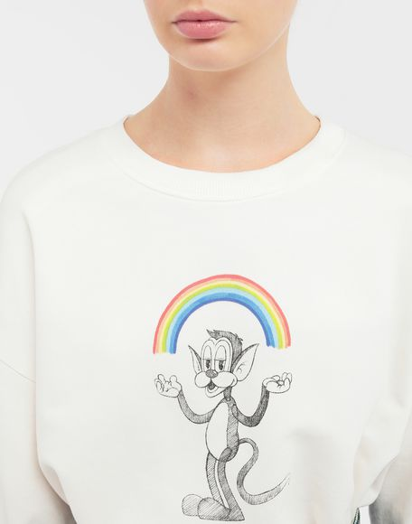 MM6 MAISON MARGIELA Sweat-shirt avec imprimé Rainbowmaker Sweatshirt Femme a