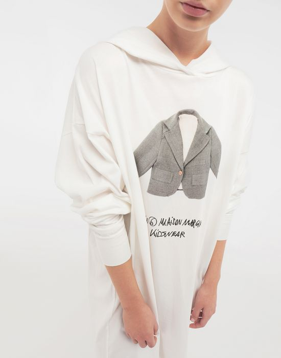 MM6 MAISON MARGIELA Kidswear print hooded sweatshirt Long sleeve t-shirt [*** pickupInStoreShipping_info ***] a