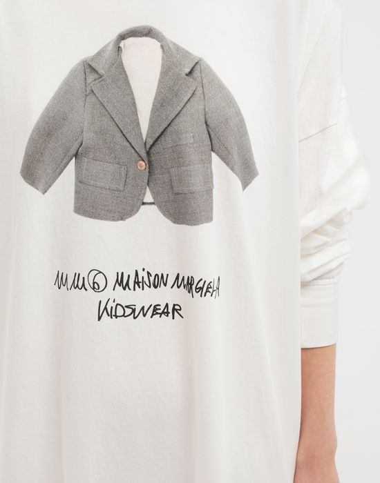 MM6 MAISON MARGIELA Kidswear print hooded sweatshirt Long sleeve t-shirt [*** pickupInStoreShipping_info ***] b