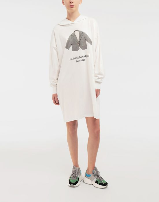 MM6 MAISON MARGIELA Kidswear print hooded sweatshirt Long sleeve t-shirt [*** pickupInStoreShipping_info ***] r