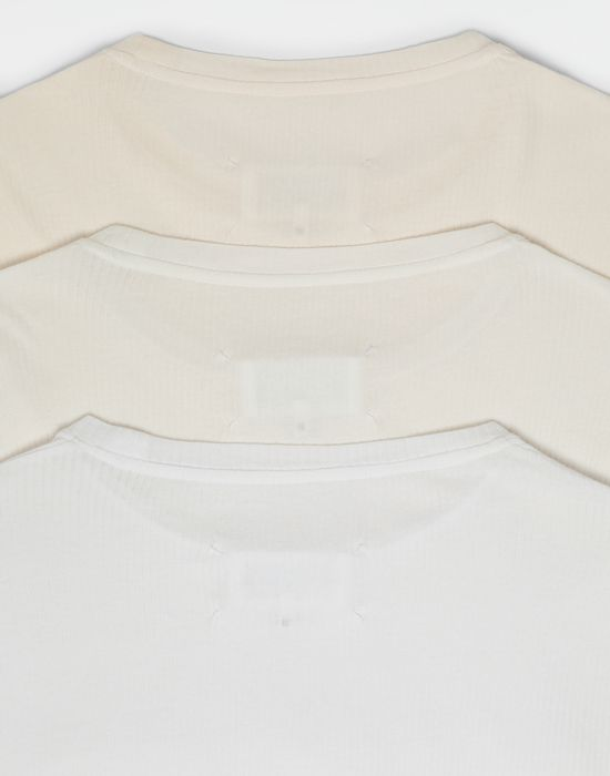 MAISON MARGIELA 3-pack Stereotype white T-shirts Long sleeve t-shirt [*** pickupInStoreShippingNotGuaranteed_info ***] a
