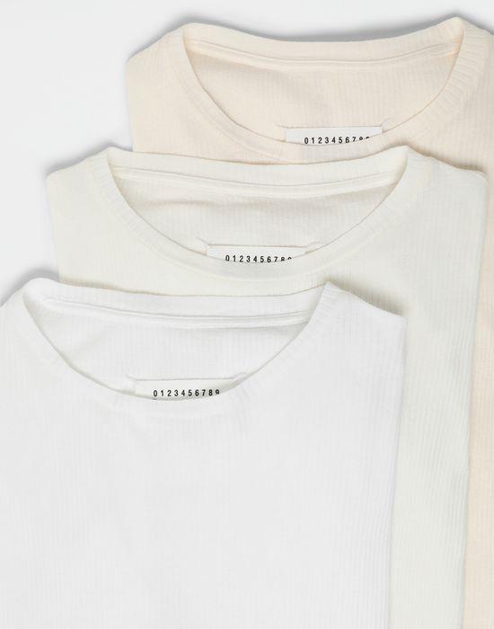 MAISON MARGIELA 3-pack Stereotype white T-shirts Long sleeve t-shirt [*** pickupInStoreShippingNotGuaranteed_info ***] d