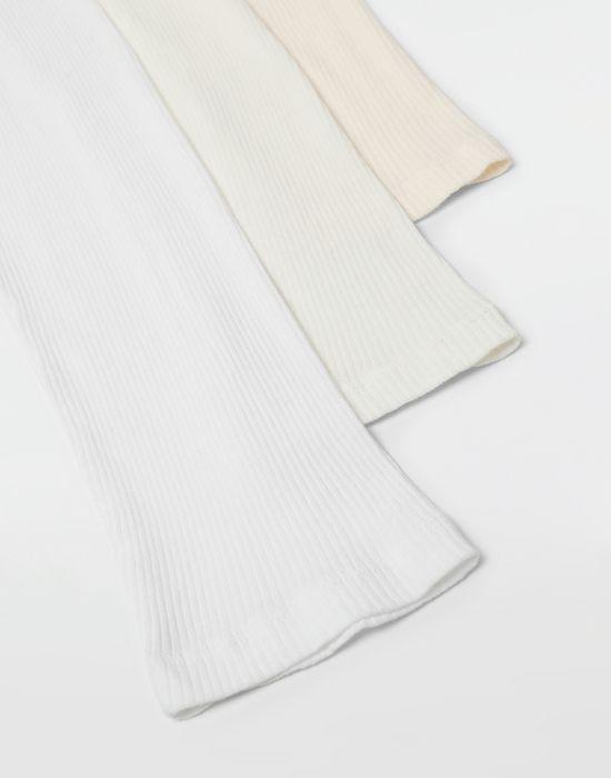 MAISON MARGIELA 3-pack Stereotype white T-shirts Long sleeve t-shirt [*** pickupInStoreShippingNotGuaranteed_info ***] e