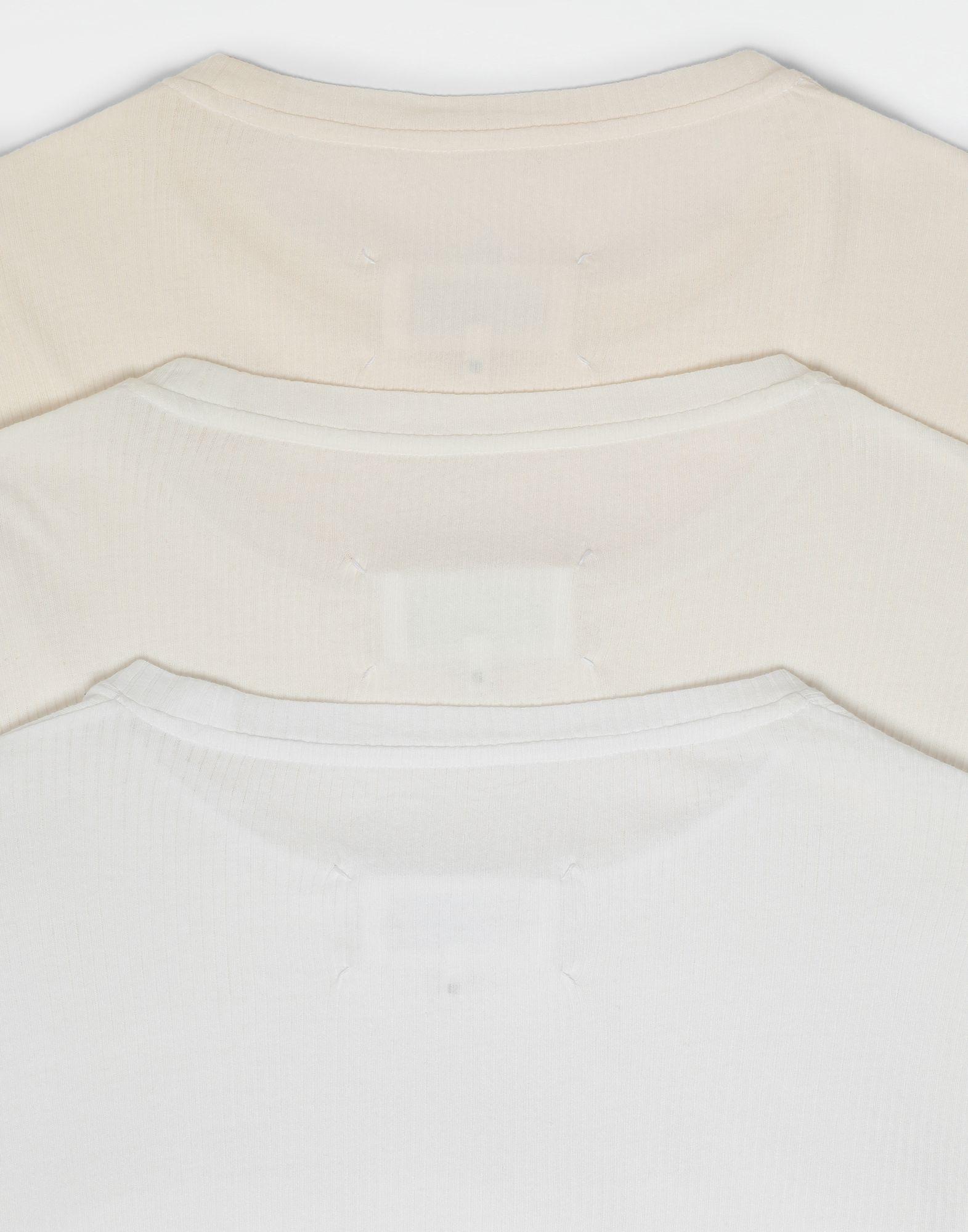 MAISON MARGIELA 3-pack Stereotype white T-shirts Long sleeve t-shirt Man a