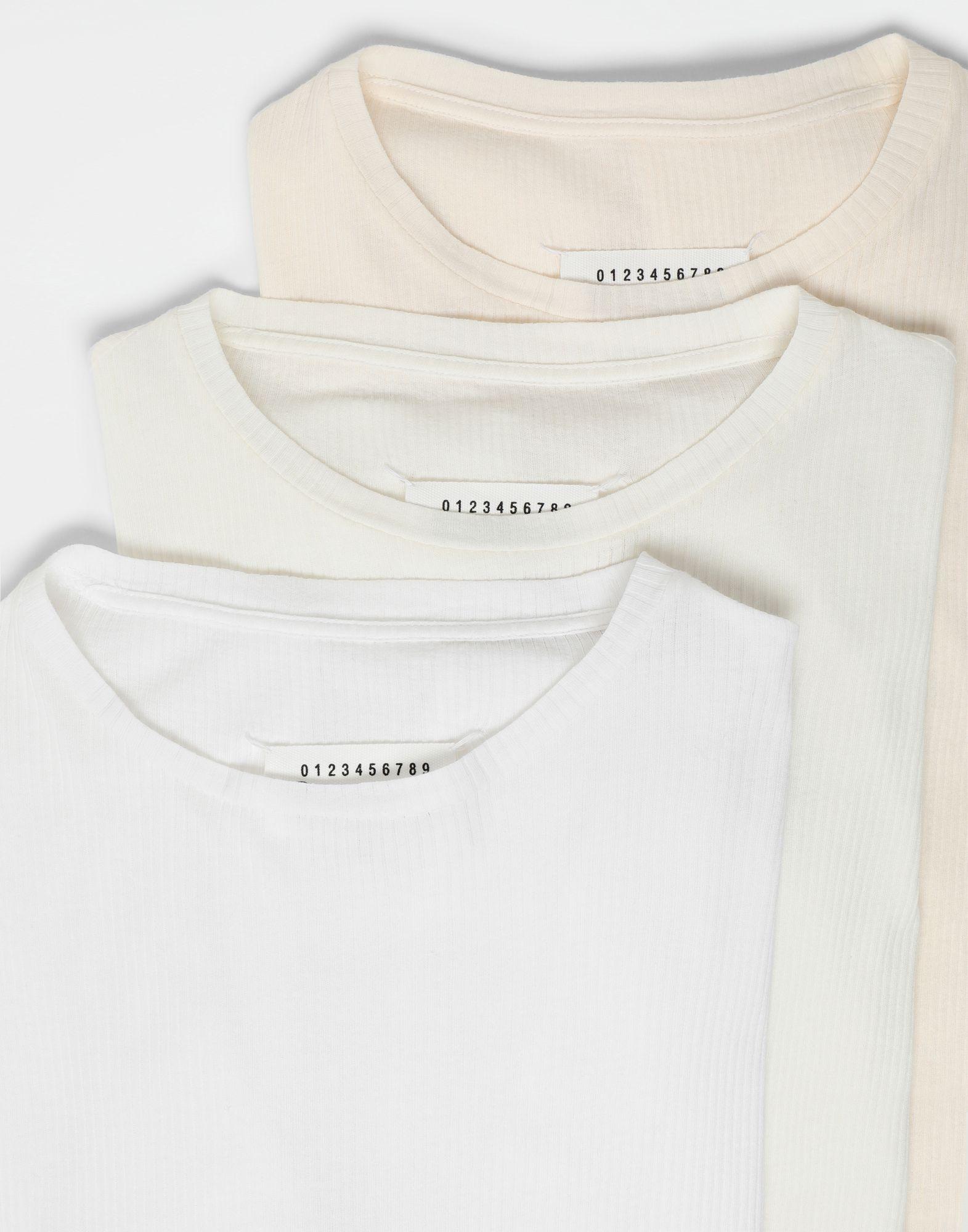 MAISON MARGIELA 3-pack Stereotype white T-shirts Long sleeve t-shirt Man d