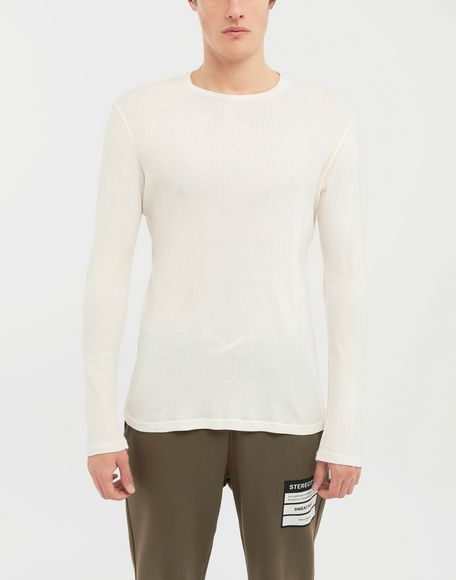 MAISON MARGIELA 3-pack Stereotype white T-shirts Long sleeve t-shirt Man b