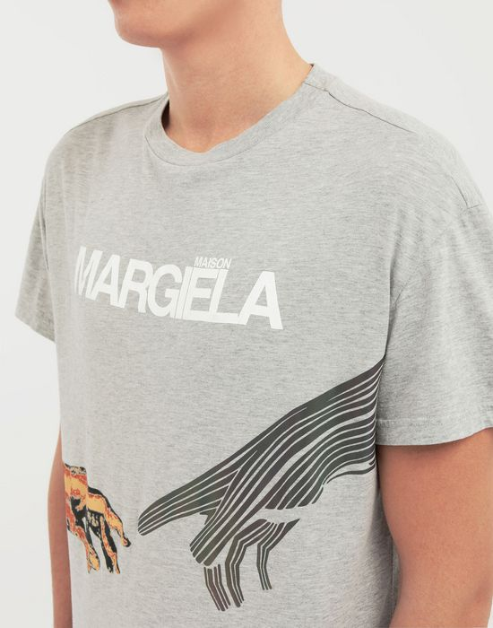MAISON MARGIELA グラフィック ロゴ プリント Tシャツ T シャツ [*** pickupInStoreShippingNotGuaranteed_info ***] b