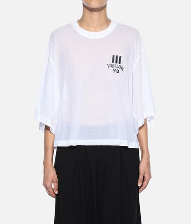 Y-3 T シャツ レディース Y-3 Yohji Love Sheer Tee r