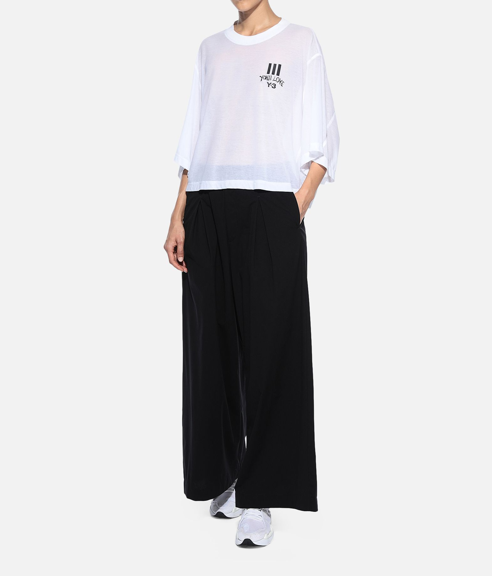 Y-3 Y-3 Yohji Love Sheer Tee Short sleeve t-shirt Woman a