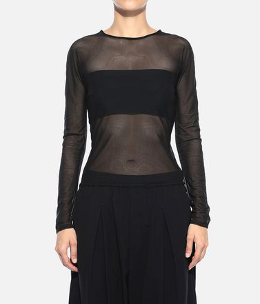 Y-3 Top Woman Y-3 Yohji Love Mesh Tee r