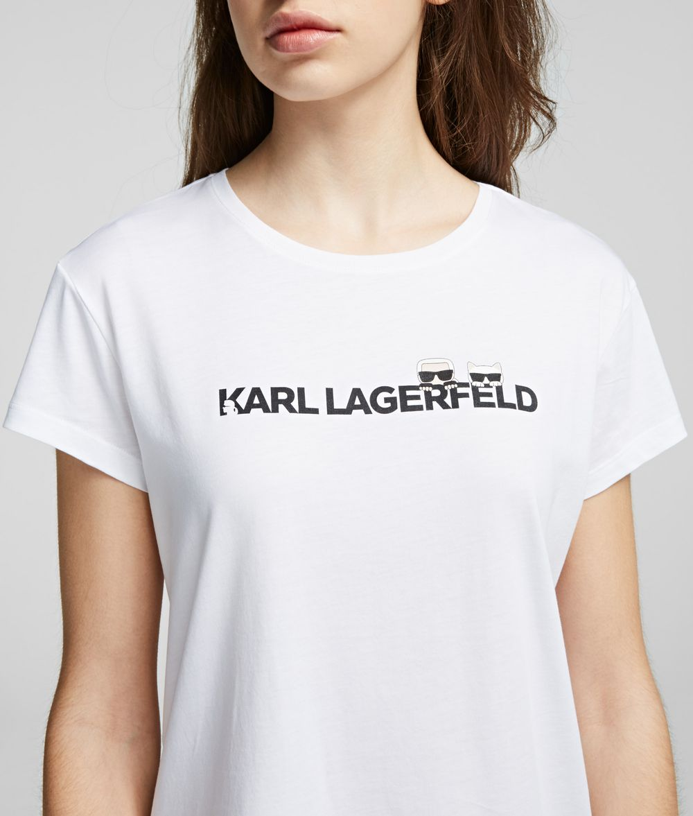 KARL LAGERFELD K/Ikonik Logo-T-Shirt T-Shirt Damen d