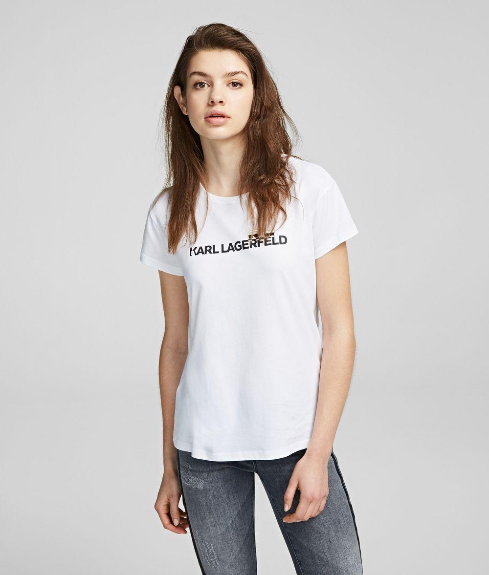 KARL LAGERFELD K/Ikonik Logo-T-Shirt T-Shirt Damen f