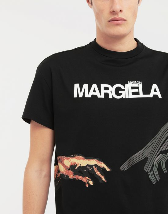 MAISON MARGIELA Graphic logo print T-shirt T-shirt manches courtes [*** pickupInStoreShippingNotGuaranteed_info ***] b