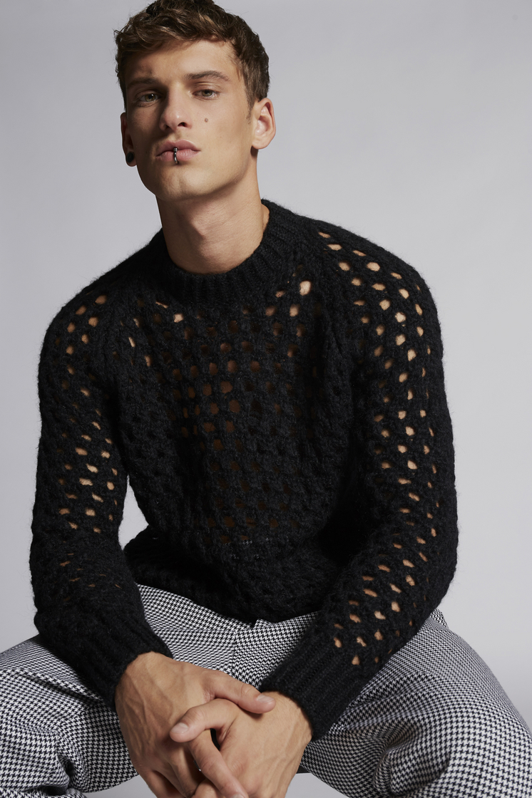 DSQUARED2 Mesh Pullover Pullover Man