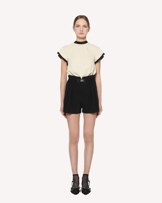 REDValentino Top in Crepe Envers Satin