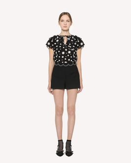 REDValentino Stars and Shadows printed Silk top
