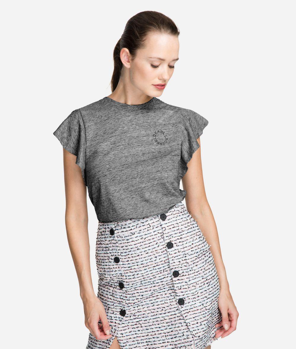 KARL LAGERFELD Ruffle Sleeve T-Shirt T-shirt Woman f