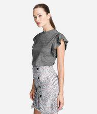 KARL LAGERFELD Ruffle Sleeve T-Shirt 9_f