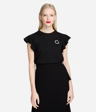 KARL LAGERFELD T-shirt Woman Ruffle Sleeve T-Shirt f