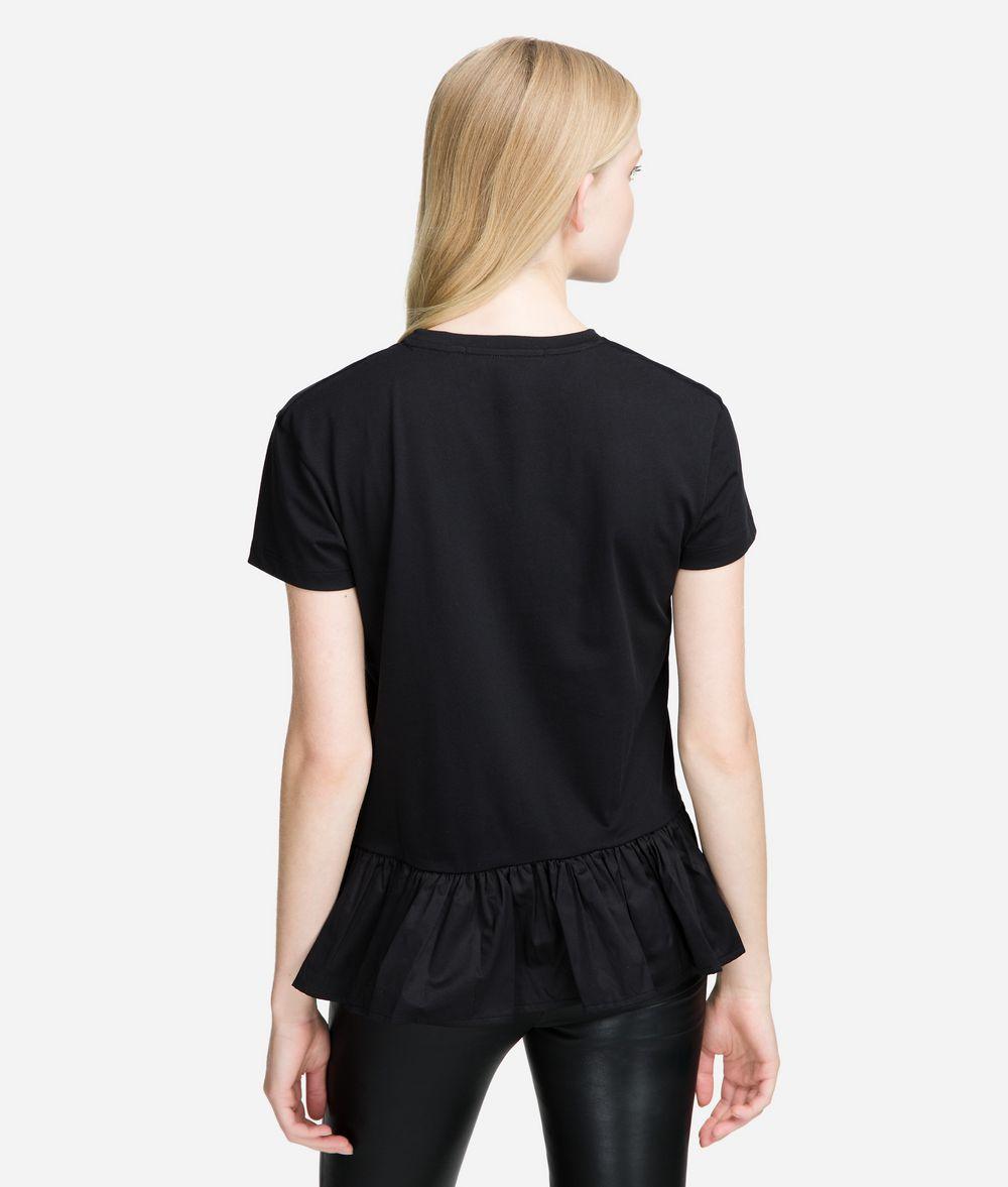 KARL LAGERFELD T-Shirt mit Logo-Ausschnitt T-Shirt Damen d