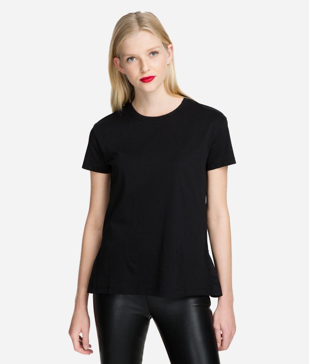 KARL LAGERFELD T-Shirt mit Logo-Ausschnitt T-Shirt Damen f