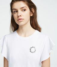 KARL LAGERFELD T-Shirt mit gerüschten Ärmeln 9_f