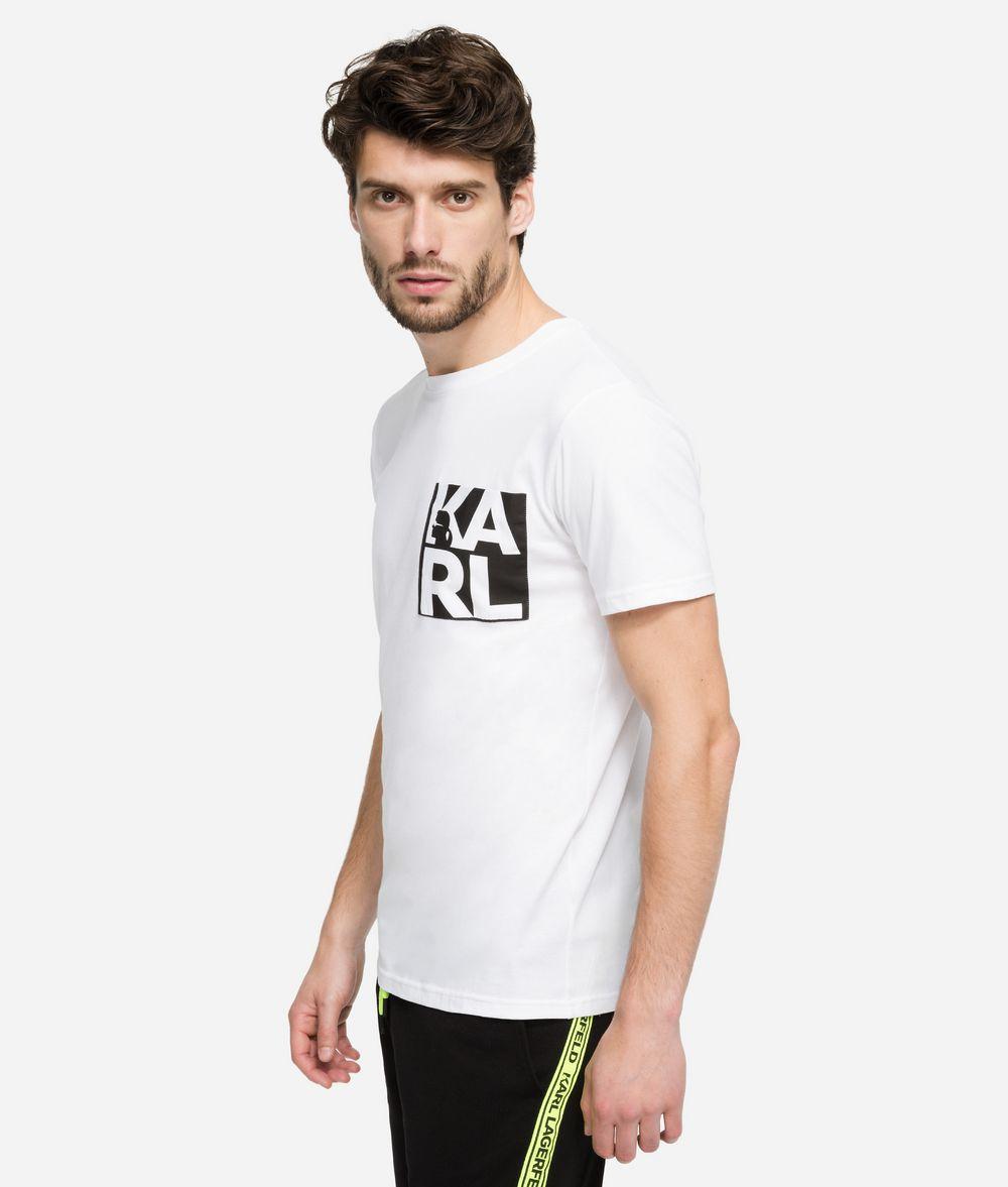 KARL LAGERFELD Logo Print T-Shirt T-shirt Man d