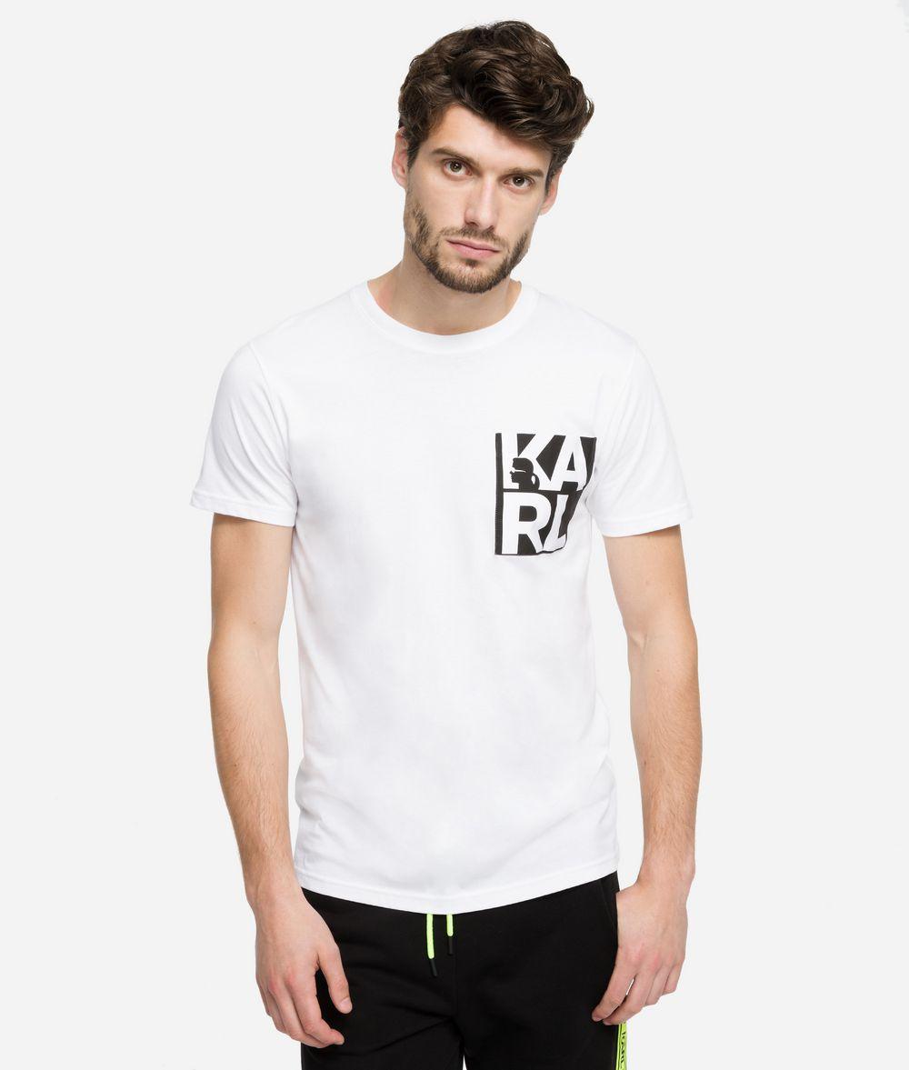 KARL LAGERFELD Logo Print T-Shirt T-shirt Man f
