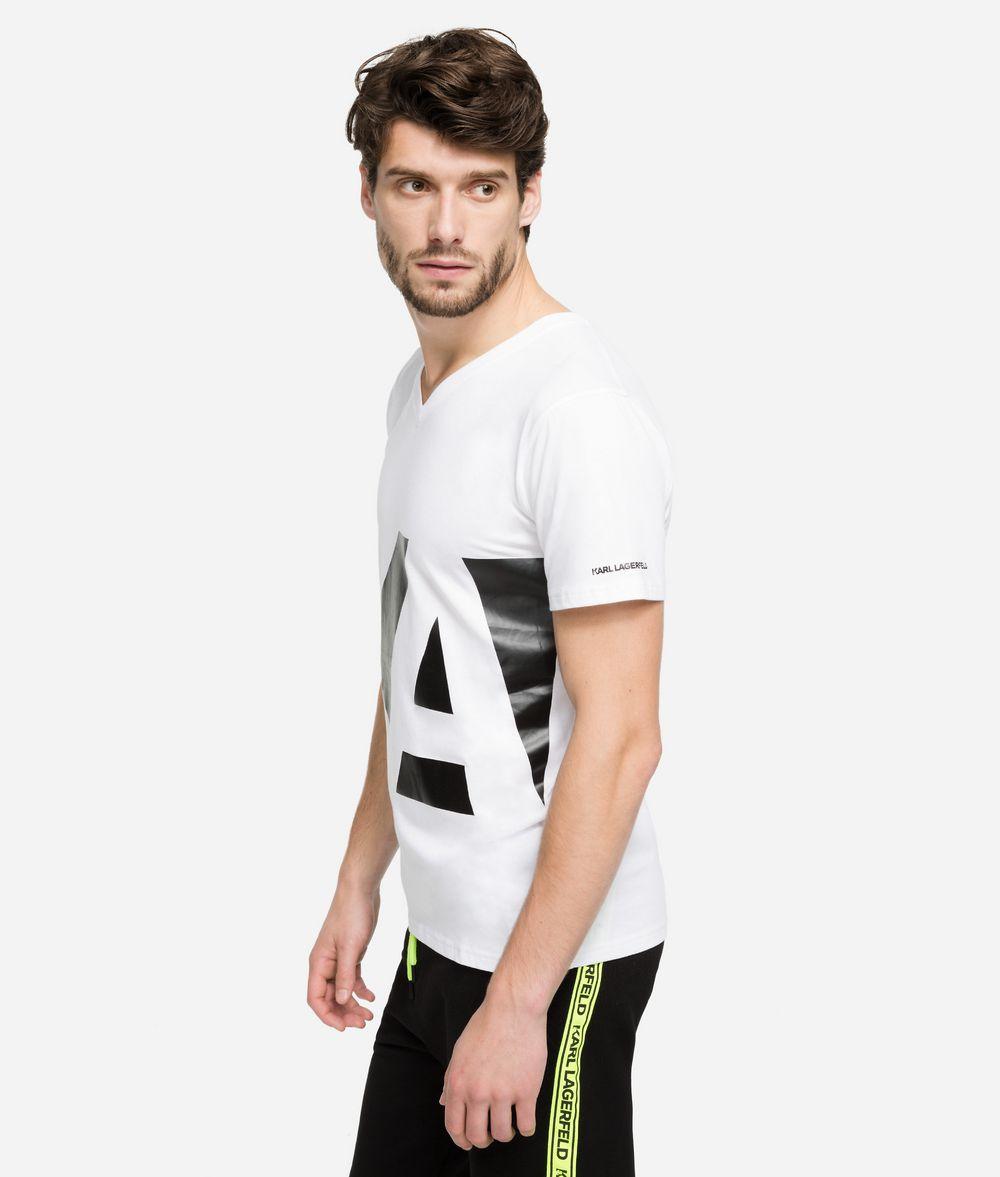 KARL LAGERFELD V-Neck Logo T-Shirt T-shirt Man d
