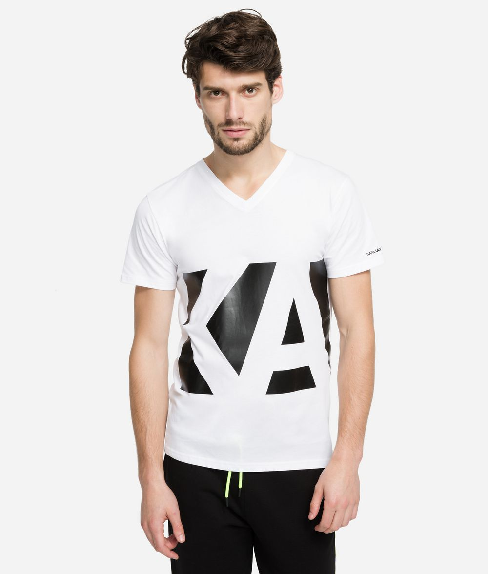 KARL LAGERFELD V-Neck Logo T-Shirt T-shirt Man f