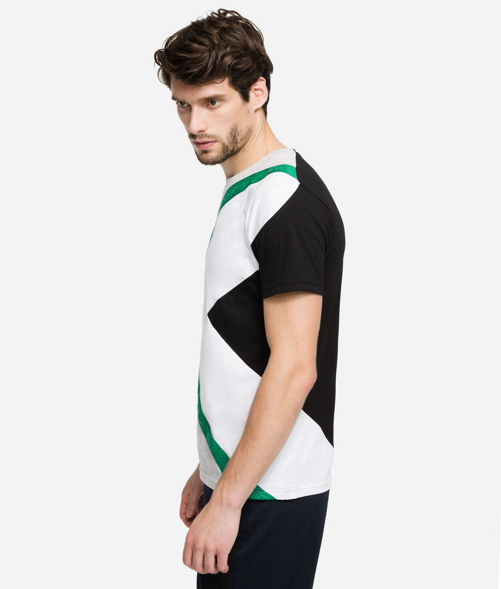 KARL LAGERFELD Printed Logo Tape T-Shirt T-shirt Man d