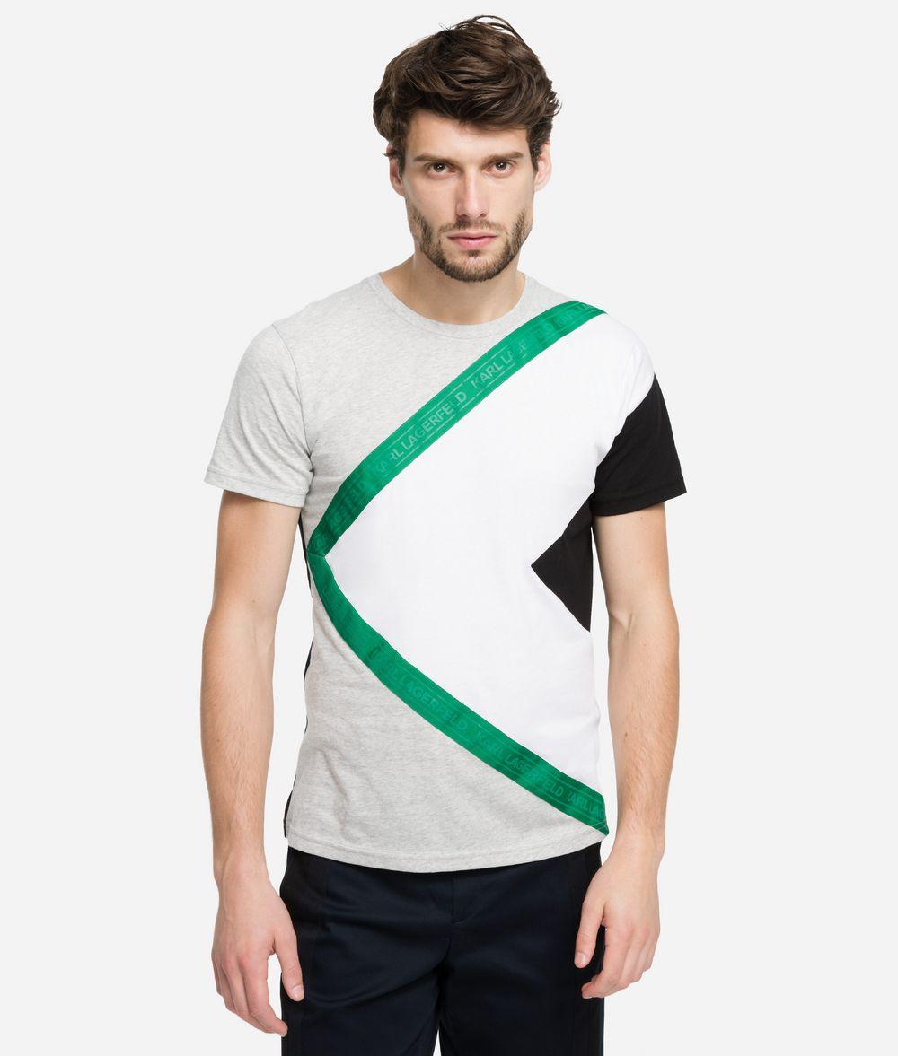 KARL LAGERFELD Printed Logo Tape T-Shirt T-shirt Man f