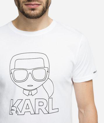 KARL LAGERFELD K/IKONIK T-SHIRT MIT KARL-SILHOUETTE