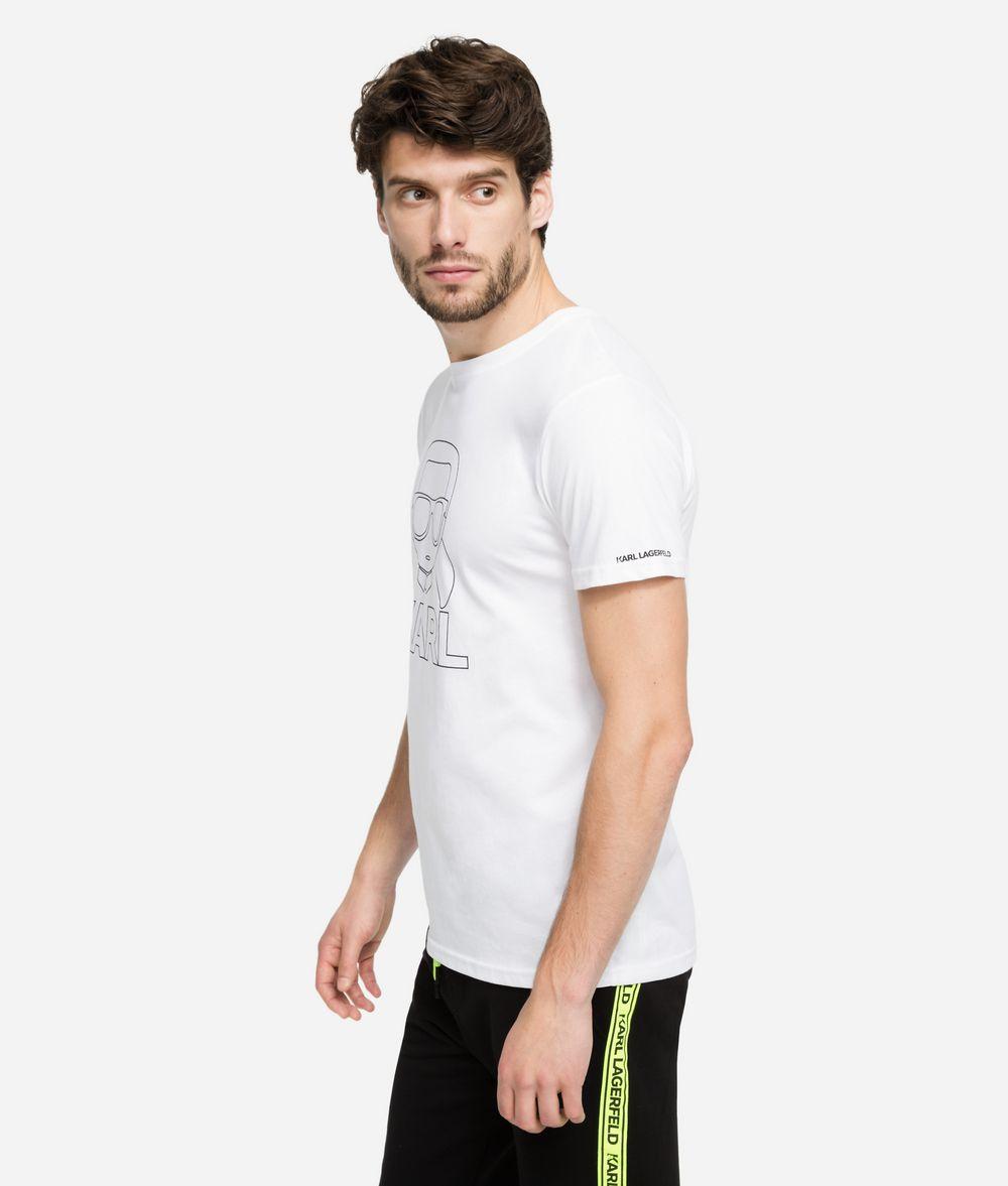 KARL LAGERFELD K/Ikonik Outline T-Shirt T-shirt Man d