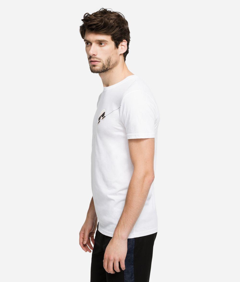 KARL LAGERFELD K/Ikonik T-Shirt mit Kontrastnaht T-Shirt Herren d