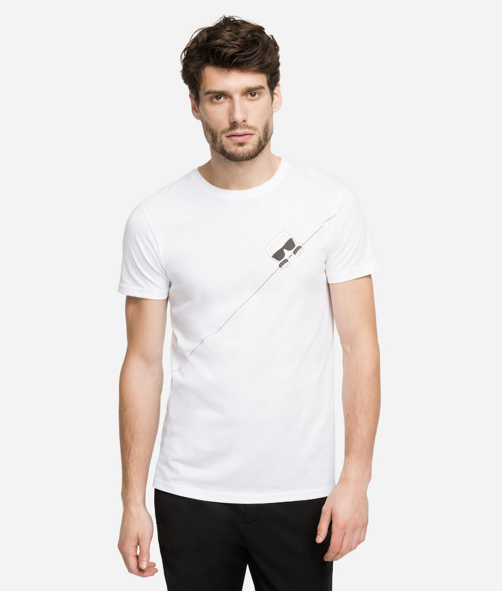 KARL LAGERFELD K/Ikonik T-Shirt mit Kontrastnaht T-Shirt Herren f