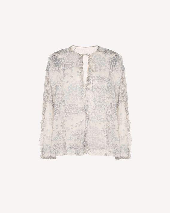 REDValentino Cascading Stars printed Silk Chiffon top