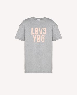 "REDValentino T-shirt stampa ""Love You"""
